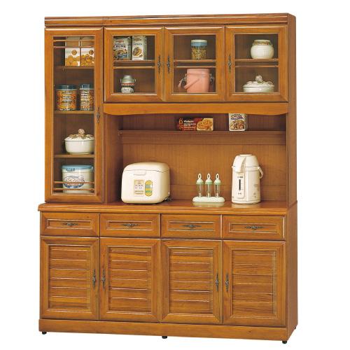AS-愛瑪5.3尺實木樟木色高餐櫃