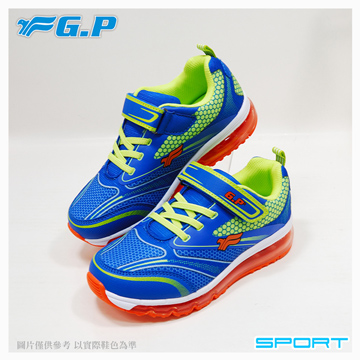 【G.P 兒童輕量氣墊運動鞋】P7616B-26 藍綠色 (SIZE:32-38 共二色)