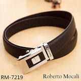 【Roberto Mocali】頂級牛皮海獅紋自動皮帶(RM-7219)