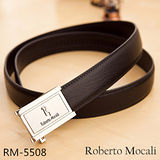 【Roberto Mocali】頂級牛皮海獅紋自動皮帶(RM-5508)
