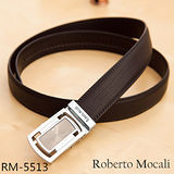 【Roberto Mocali】頂級牛皮海獅紋自動皮帶(RM-5513)