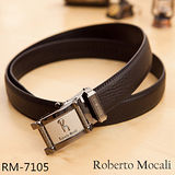 【Roberto Mocali】頂級牛皮海獅紋自動皮帶(RM-7105)