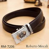 【Roberto Mocali】頂級牛皮海獅紋自動皮帶(RM-7206)