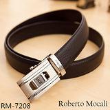 【Roberto Mocali】頂級牛皮海獅紋自動皮帶(RM-7208)