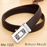 【Roberto Mocali】頂級牛皮海獅紋自動皮帶(RM-7215)