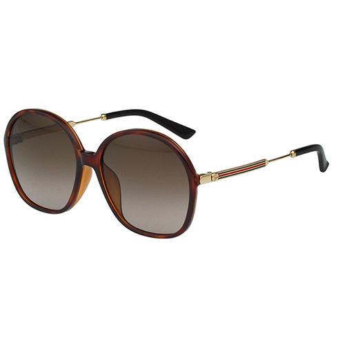 GUCCI 復古圓框 太陽眼鏡(琥珀色)
