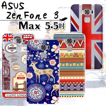 VXTRA  ASUS ZenFone 3 Max 5.5吋 ZC553KL 率性風格 彩繪軟式保護殼 手機殼