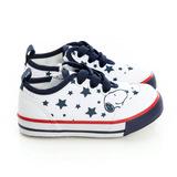 Snoopy史努比 輕量舒適柔軟彈性鞋墊休閒帆布鞋 514222-白藍