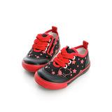 Snoopy史努比 輕量舒適柔軟彈性鞋墊休閒帆布鞋 514222-黑紅