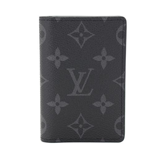 Louis Vuitton LV M61696 黑經典花紋信用卡名片短夾_預購