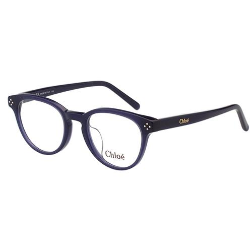 CHLOE 復古 圓框 光學眼鏡(藍色)CE2680A-424