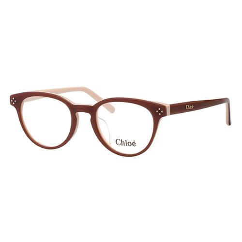 CHLOE 復古 圓框 光學眼鏡(咖啡色)CE2680A-905