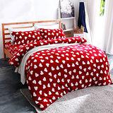 美夢元素 超柔軟法蘭絨雙人加大四件式床包組-暖暖心