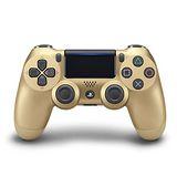 SONY PS4原廠DS4 光條觸碰板 無線震動手把-金色(CUH-ZCT2G14)