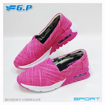 【G.P 女款氣墊輕量休閒懶人鞋】P5719W-44 亮粉色 (SIZE:36-40 共二色)