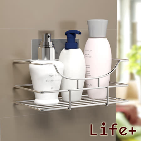 【Life Plus】環保無痕魔力貼掛勾-瓶罐收納架/衛浴置物架