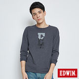 EDWIN 網路限定 經典E字LOGO長袖T-男-黑灰色