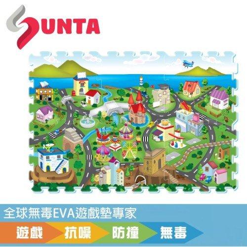 【SUNTA拼接樂扣墊】濱海小鎮(EVA樂扣遊戲墊-32*32*1cm 6片裝)