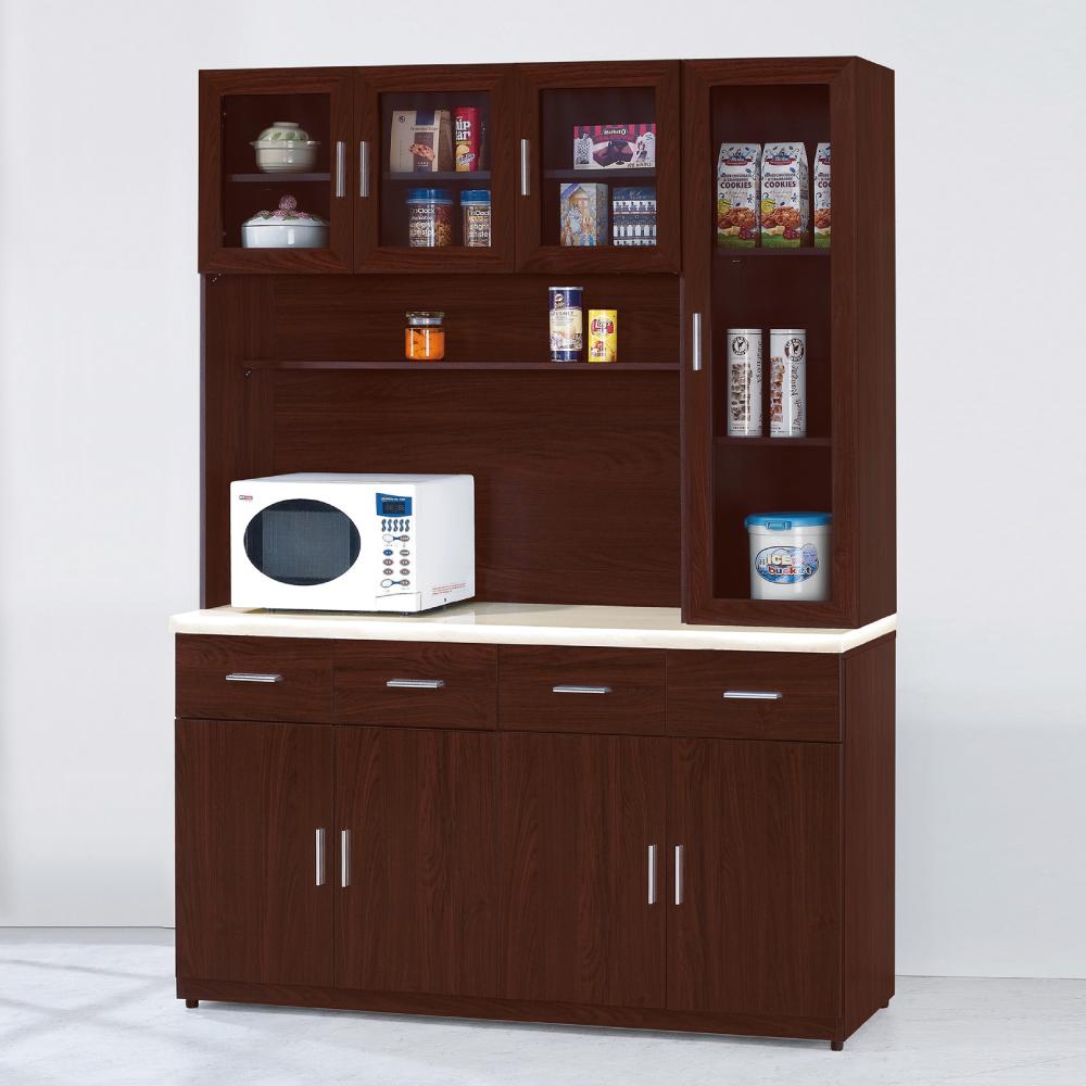 AS-安士姆胡桃色5.3尺石面高餐櫃