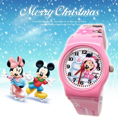 【聖誕限定】淘氣米妮限量卡通錶 M-138 (迪士尼)