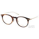 OLIVER PEOPLES眼鏡 高質感復古款(琥珀棕-金) #MARRET 1007
