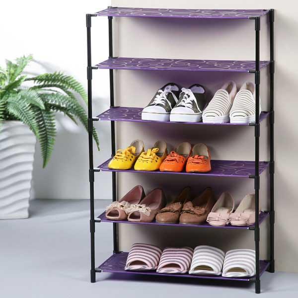線圈風輕巧六層鞋架