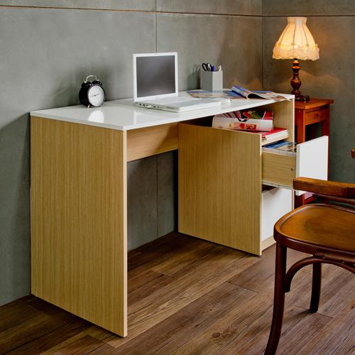 MIT品質保證 日式鏡面二抽書桌