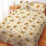 【享夢城堡】拉拉熊 輕鬆過生活系列-雙人床包組