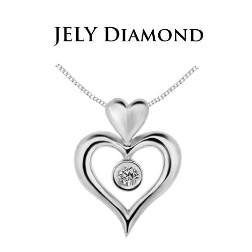 【JELY】 天使之戀天然鑽石墜鍊