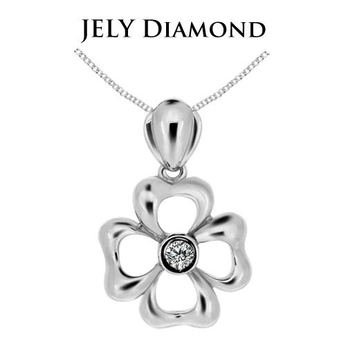 【JELY】幸運之心天然鑽石墜鍊(3分)