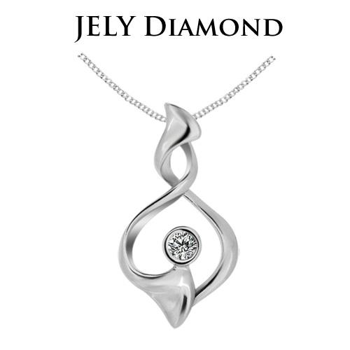 【JELY】愛戀交織天然鑽石墜鍊(3分)