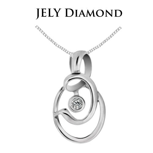 【JELY】圖騰之戀天然鑽石墜鍊(3分)