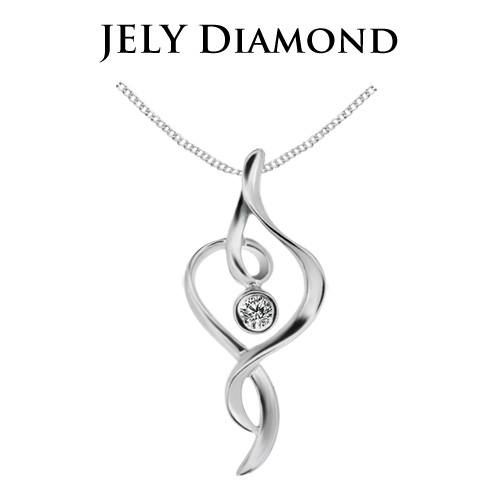【JELY】夢想舞者天然鑽石墜鍊(3分)