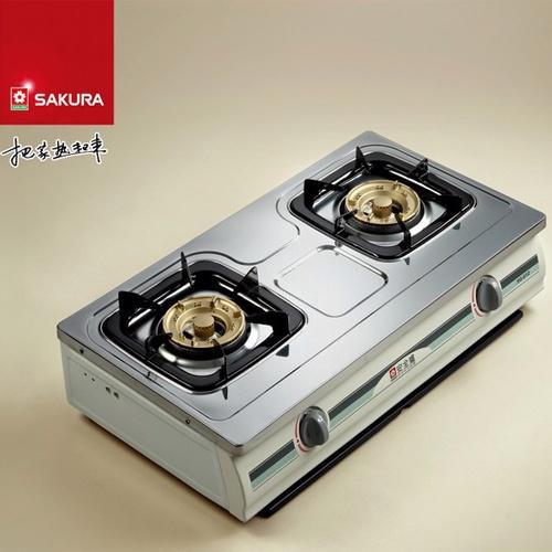 【送康寧餐具組+自助DIY+促銷價!!!】SAKURA櫻花 兩口傳統式安全瓦斯爐 G-612K