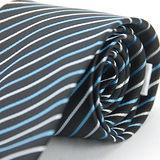 【雅派Alpaca】黑底藍白斜紋領帶(品特)