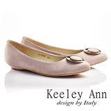 Keeley Ann金屬土星圈圈OL全真皮微尖頭鞋(淺粉色635028290)