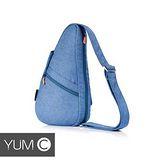 美國Y.U.M.C. 休閒風水滴型雙面防潑水單肩背/斜背/胸背包 藍色