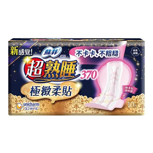 蘇菲 超熟睡極緻柔貼 37cm (10片 x6包/組)