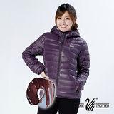 【遊遍天下】多功能JIS90%羽絨外套/ U型枕(紫色S-3L 品特)