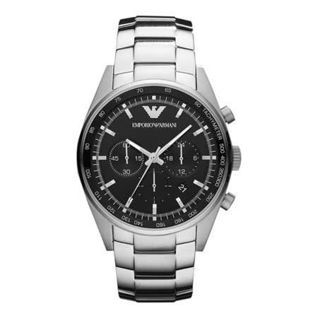 ARMANI  酷炫商務品味鋼帶腕錶