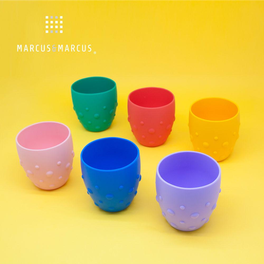 【MARCUS&MARCUS】動物樂園矽膠防滑學習杯(多款繽紛任選)
