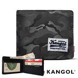 KANGOL 韓式潮流-多夾層橫式短皮夾+鑰匙圈禮盒- 迷彩灰 KG1162