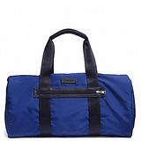 COACH 前口袋素色摺疊波士頓旅行袋(藍)