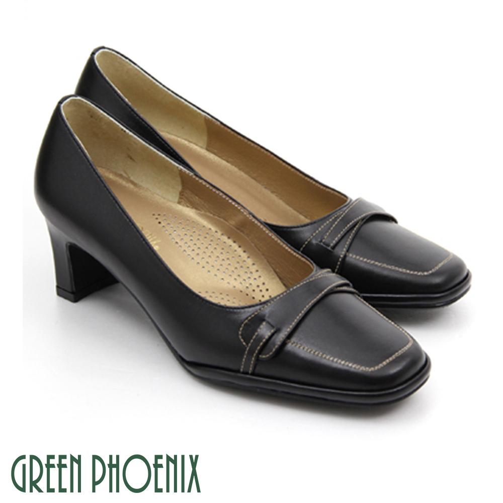 【GREEN PHOENIX】OL通勤氣質必備款~簡約氣墊高跟鞋