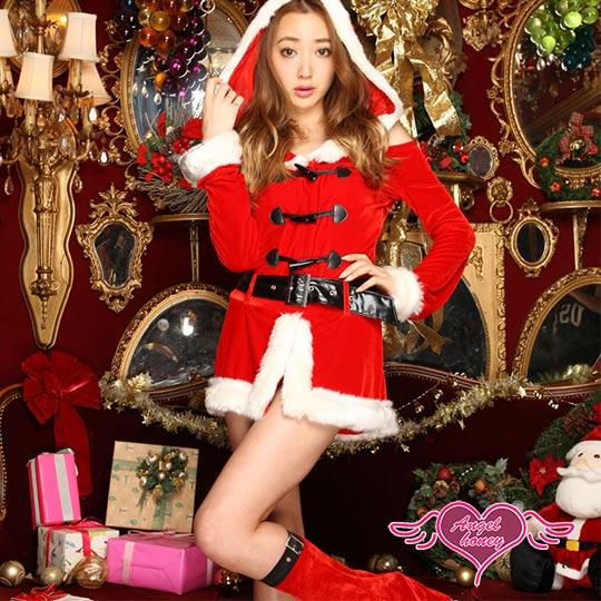 【天使霓裳】耶誕服 冬暖甜心 長袖聖誕舞會角色扮演服(紅F)