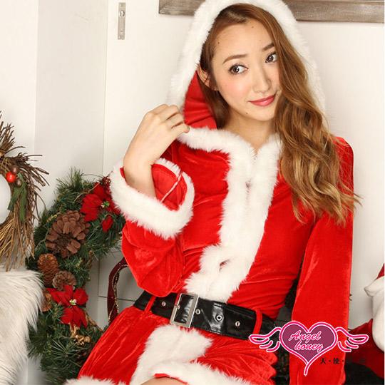 【天使霓裳】耶誕服 經典歡樂 長袖聖誕舞會角色扮演服(紅F)