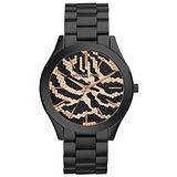 Michael Kors 狂野時尚派對腕錶-黑x金/42mm MK3316
