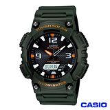 CASIO 卡西歐 潮流復刻‧太陽能數位雙顯腕錶 AQ-S810W-3A