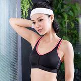【華歌爾】享運動 機能型 M-LL 運動內衣(健美黑)