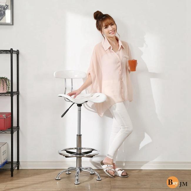 BuyJM曲線壓克力一體成型吧台椅/餐椅/高腳椅